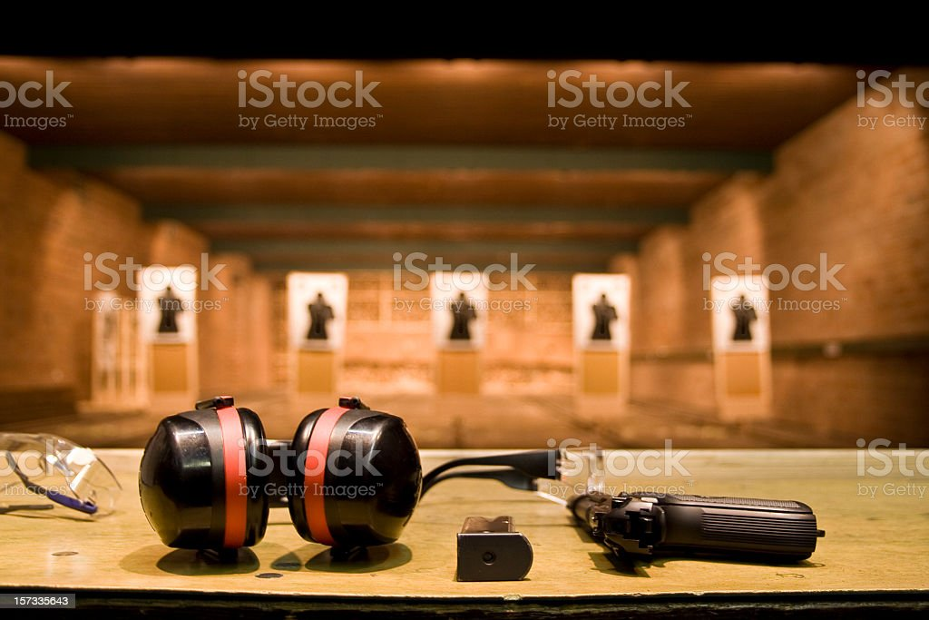 Shooting range stock photo