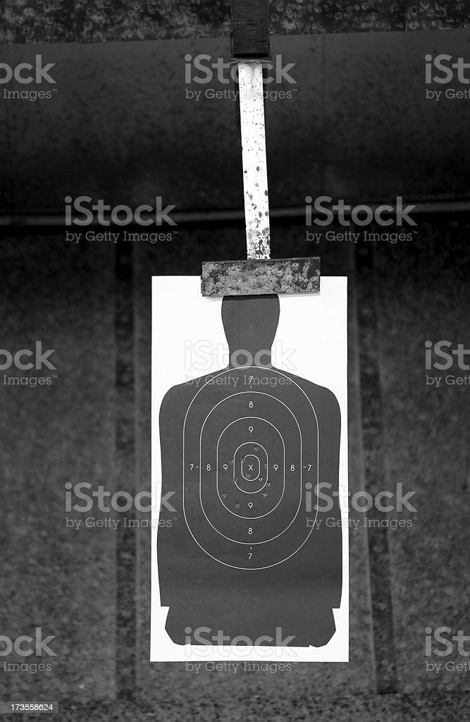 Shooting Range Target royalty-free stock photo