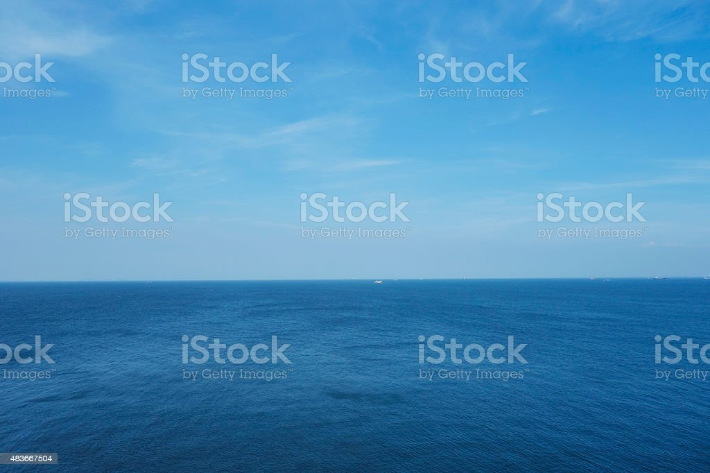 Shooting sea stock photo