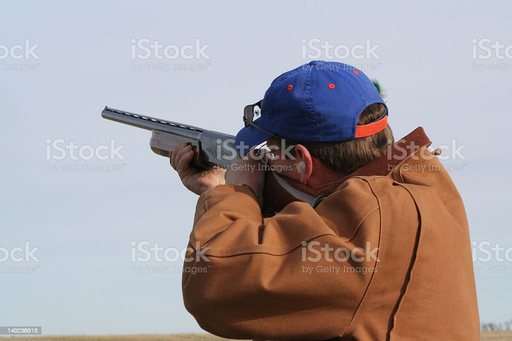 Shooting Skeet royalty-free stock photo