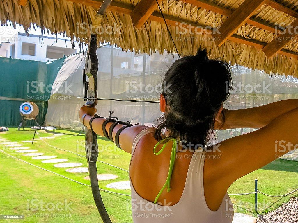 shooting sport archery stock photo