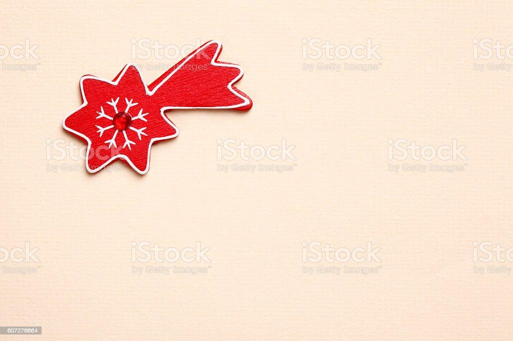 Shooting star christmas decoration stock photo