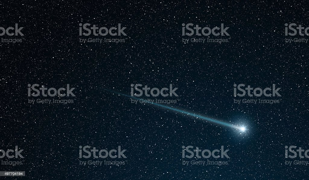shooting star vector art illustration