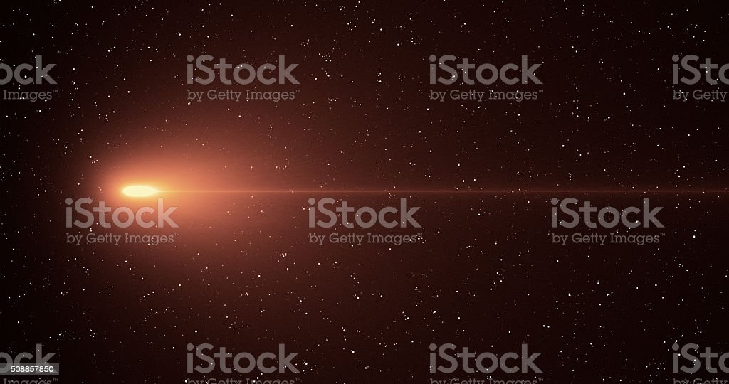 Abstract illustration of a shooting star, meteor.