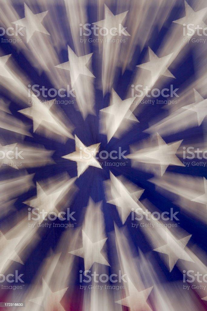 Shooting Stars American Flag stock photo