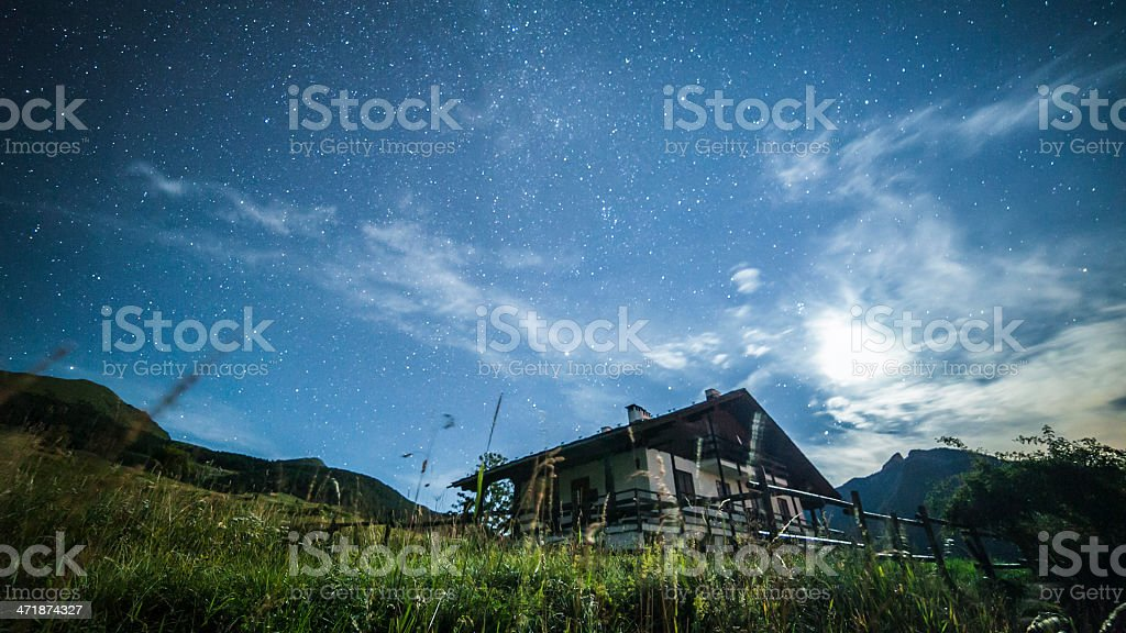 Shooting stars royalty-free stock photo
