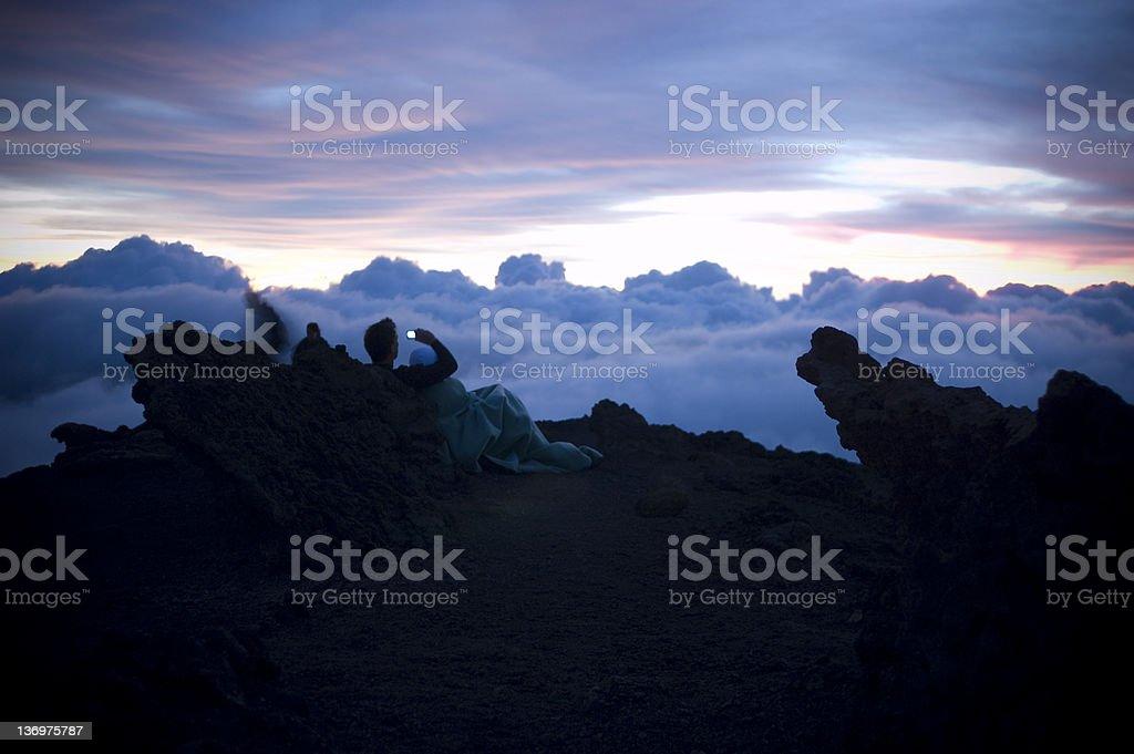 Shooting Sunrise royalty-free stock photo