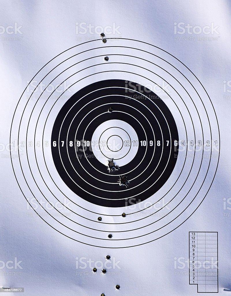 Shooting target close up stock photo