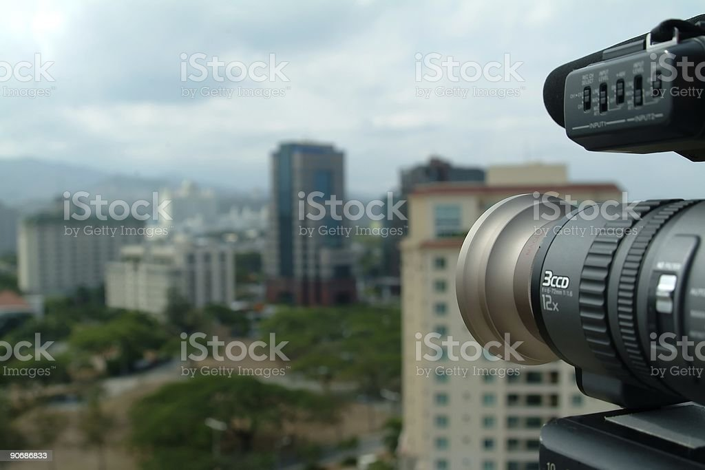 Shooting The City royalty-free stock photo