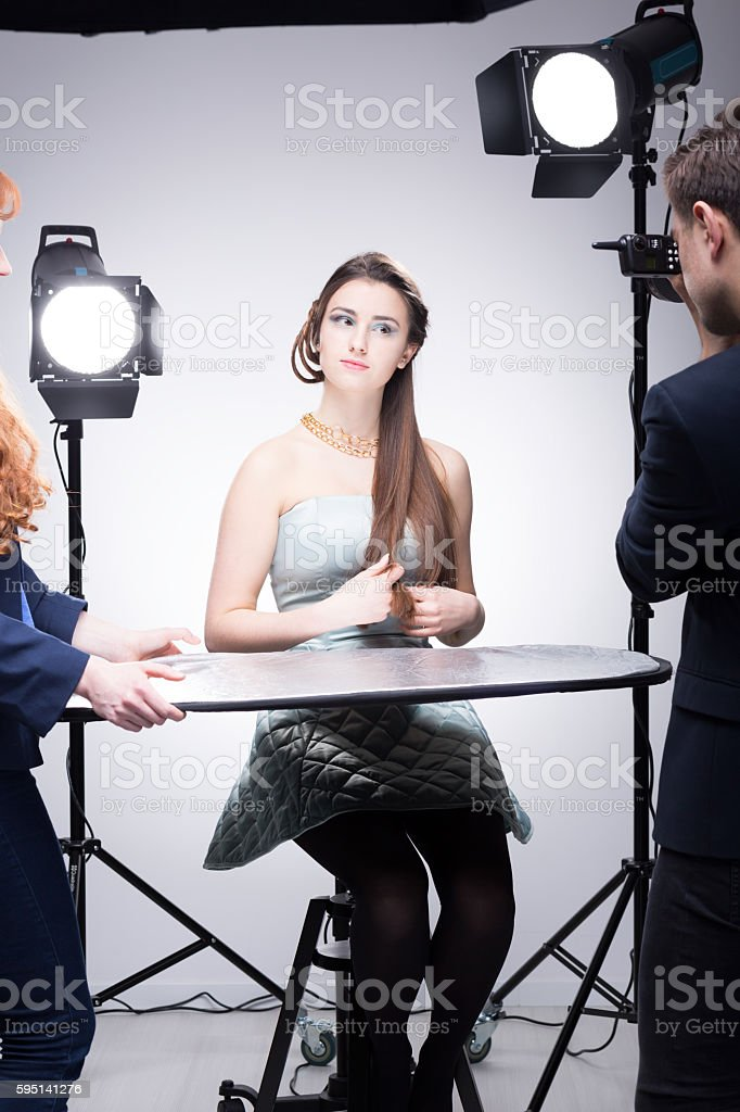Shooting the ideal jewellery advertising photo stock photo
