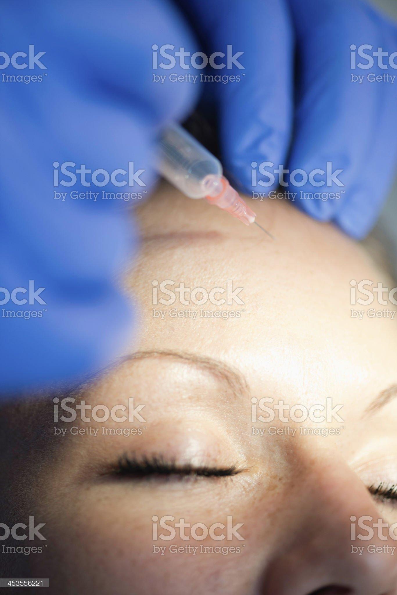 Shooting up botox royalty-free stock photo