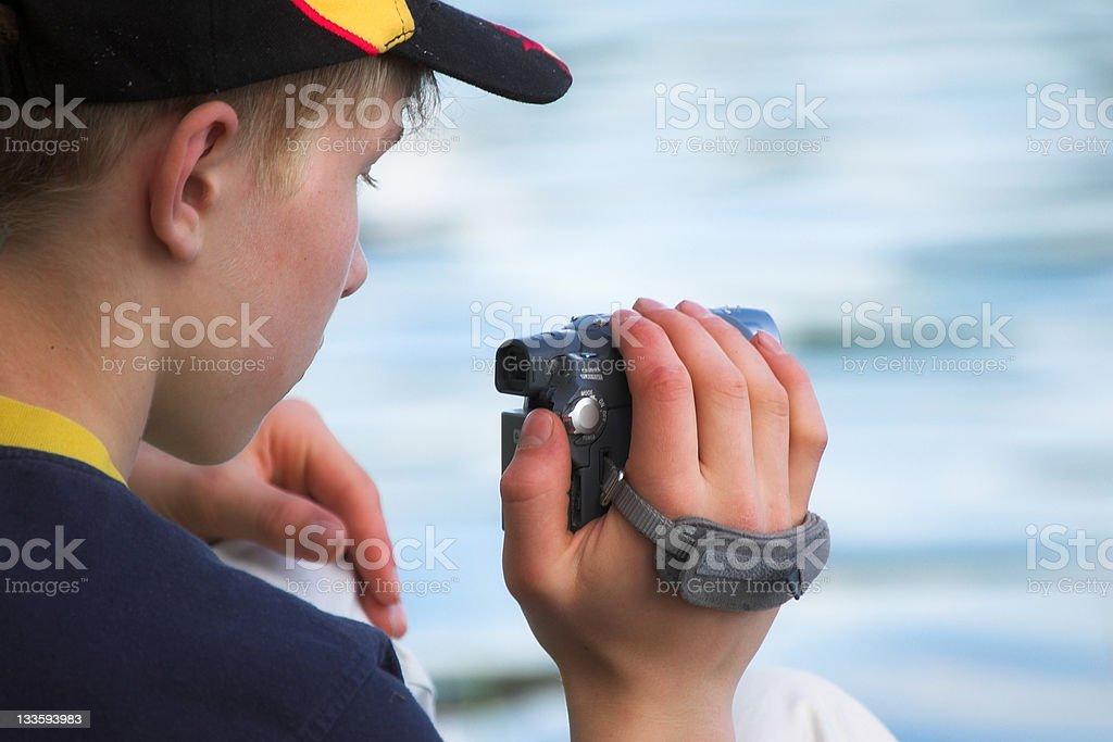 shooting video stock photo