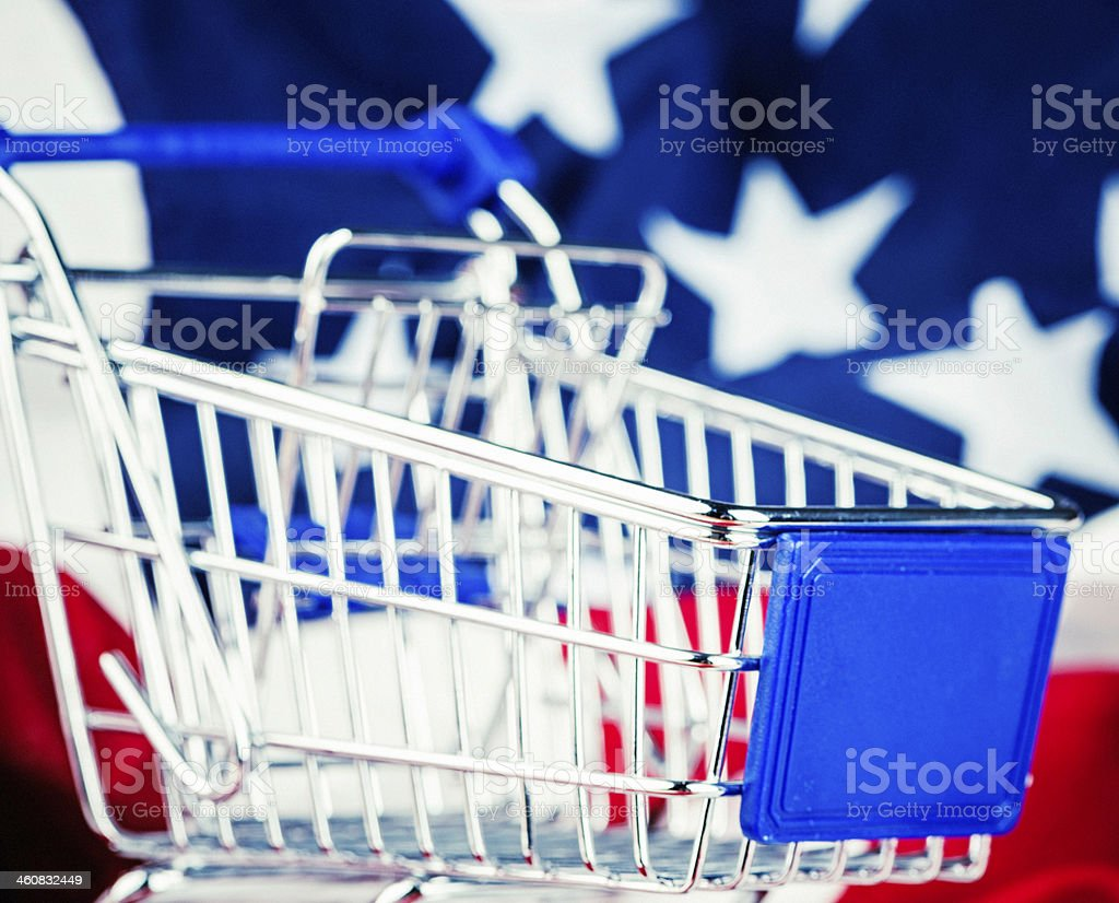 Shop and Buy American Goods royalty-free stock photo