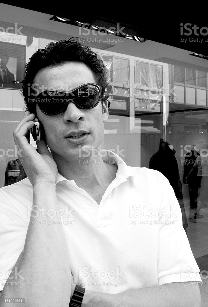 shop and phone royalty-free stock photo