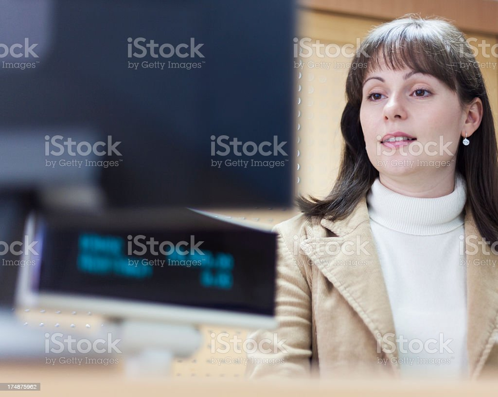 Shop assistant royalty-free stock photo