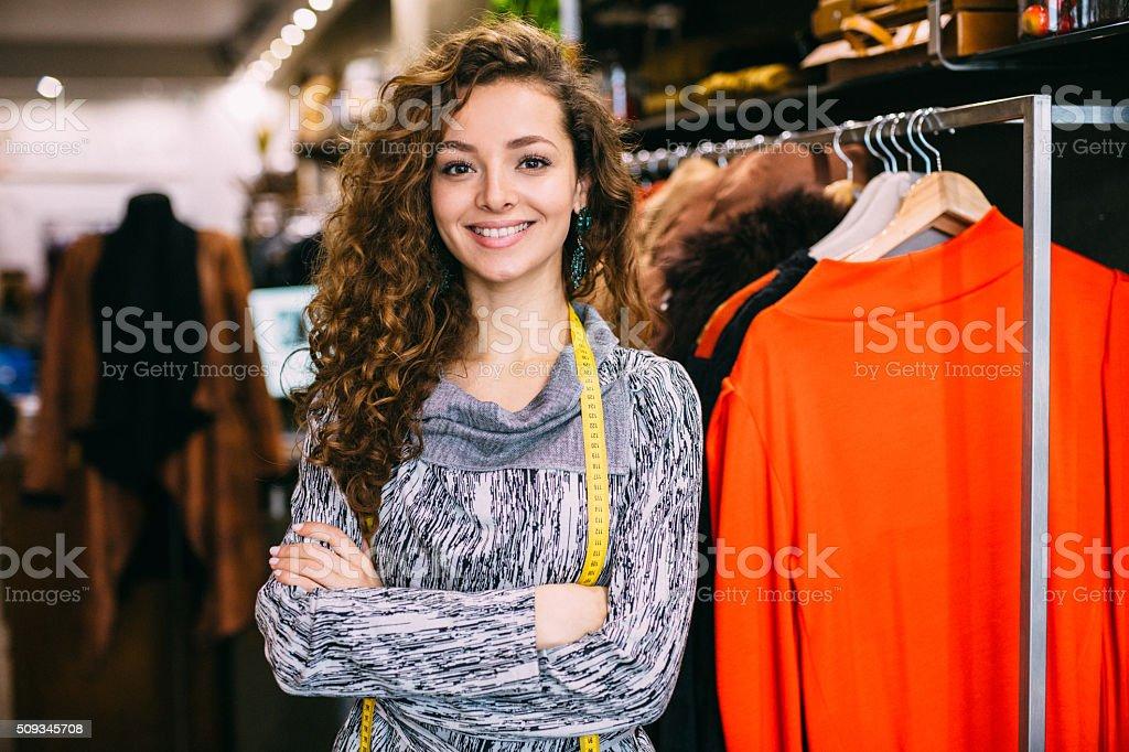Shop Assistant stock photo