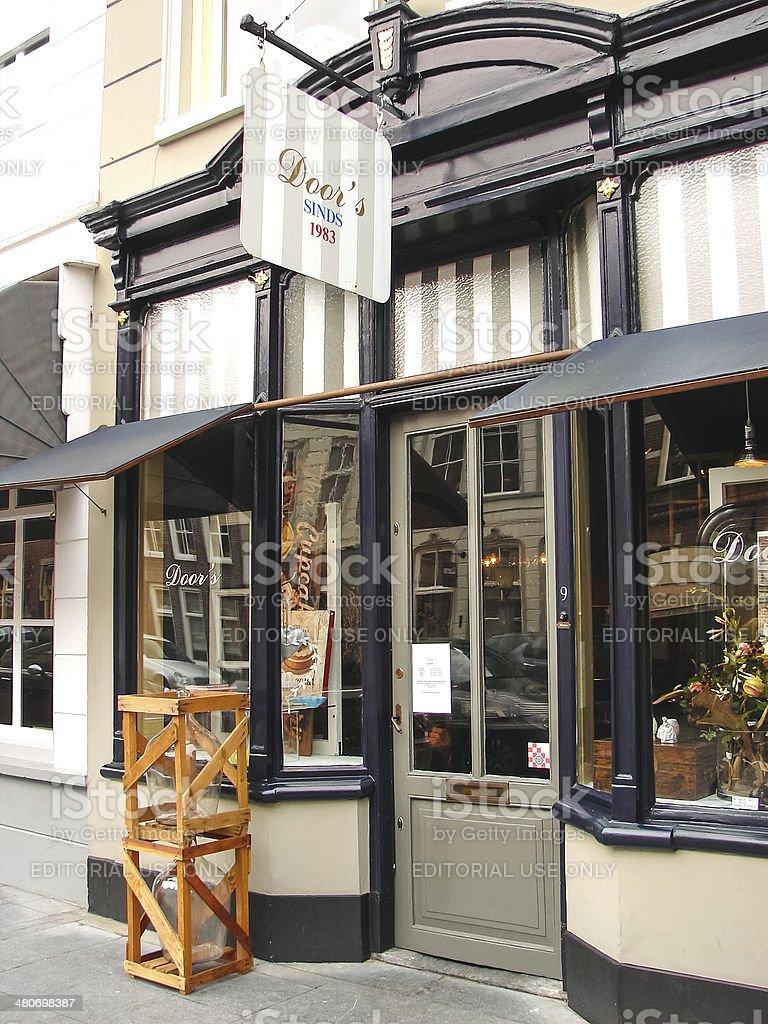 Shop design in the Dutch town of Heusden. stock photo