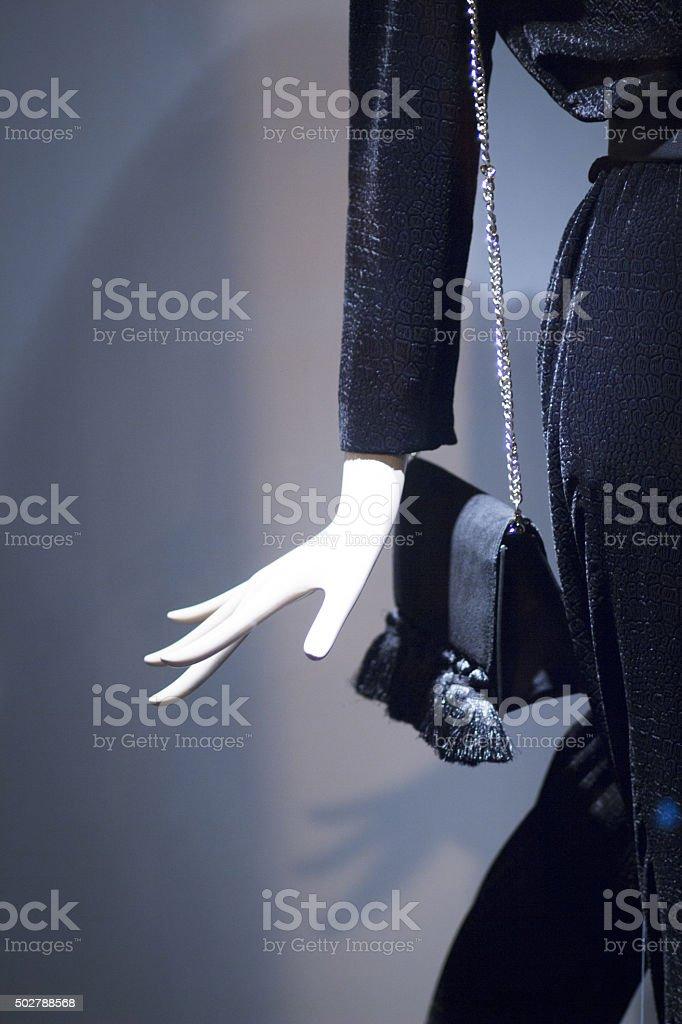 Shop dummy fashion clothes mannequin hand stock photo