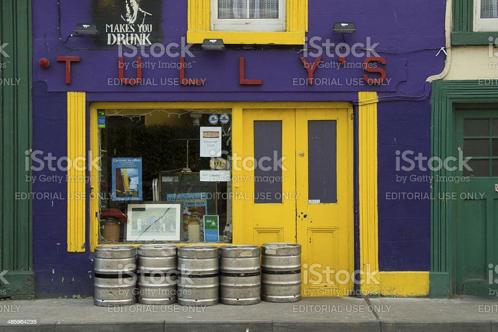 Shop facade in Ireland stock photo