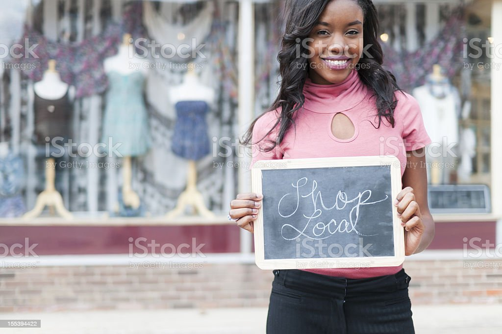 Shop Local stock photo