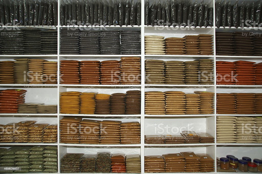 shop of exotic Indian spices royalty-free stock photo