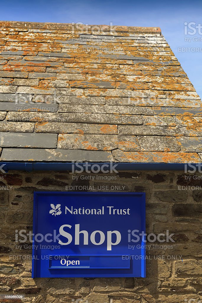 shop of the National Trust at Bedruthan Steps royalty-free stock photo