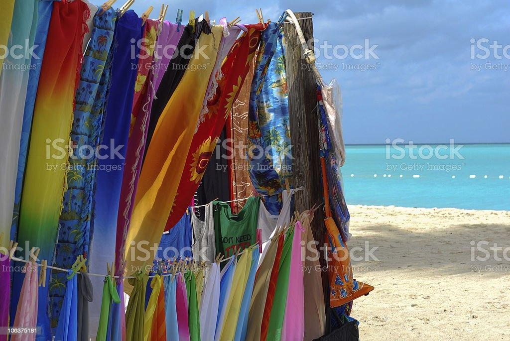 Shop on the beach stock photo