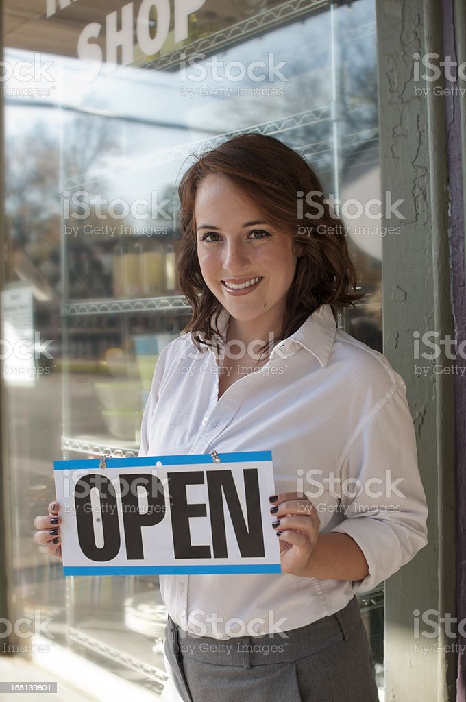Shop Open for Business royalty-free stock photo