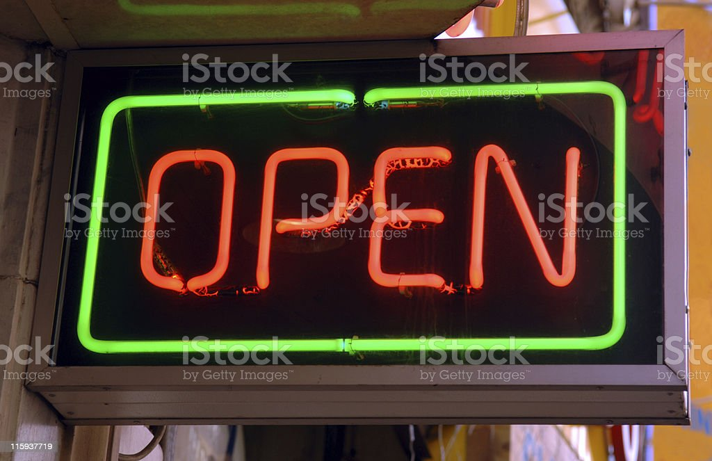Shop open royalty-free stock photo