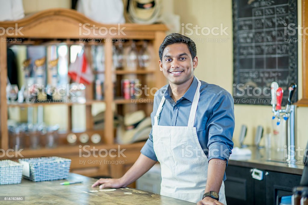 Shop Owner stock photo