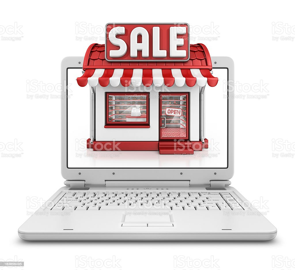 shop sale in laptop royalty-free stock photo