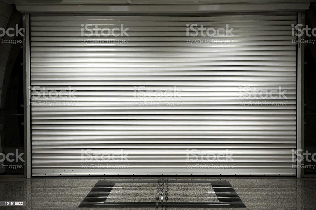 Shop shutters stock photo