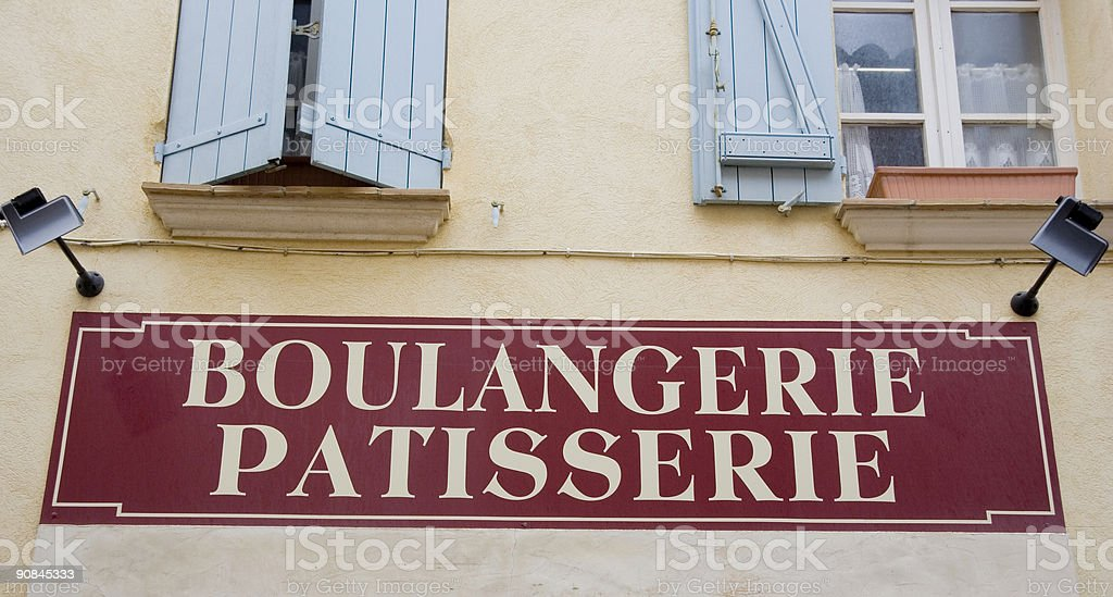 shop sign of a french bakery royalty-free stock photo