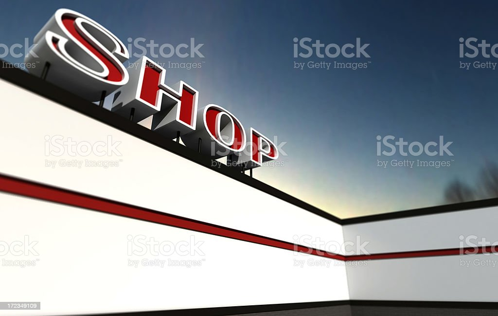 Shop Sign royalty-free stock photo
