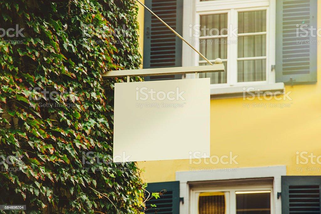 Shop sign stock photo