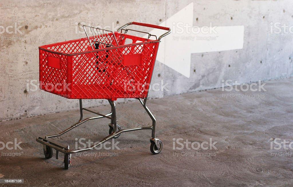 Shop this way royalty-free stock photo