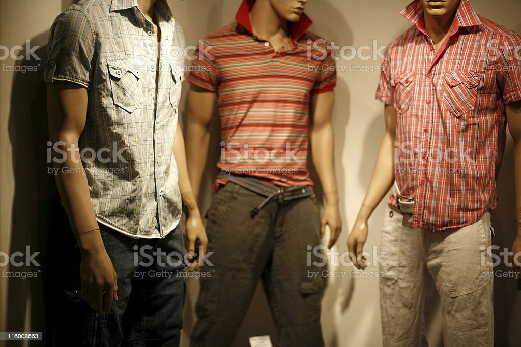 Shop window - clothes for men royalty-free stock photo