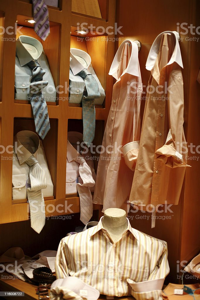 Shop window - menswear royalty-free stock photo