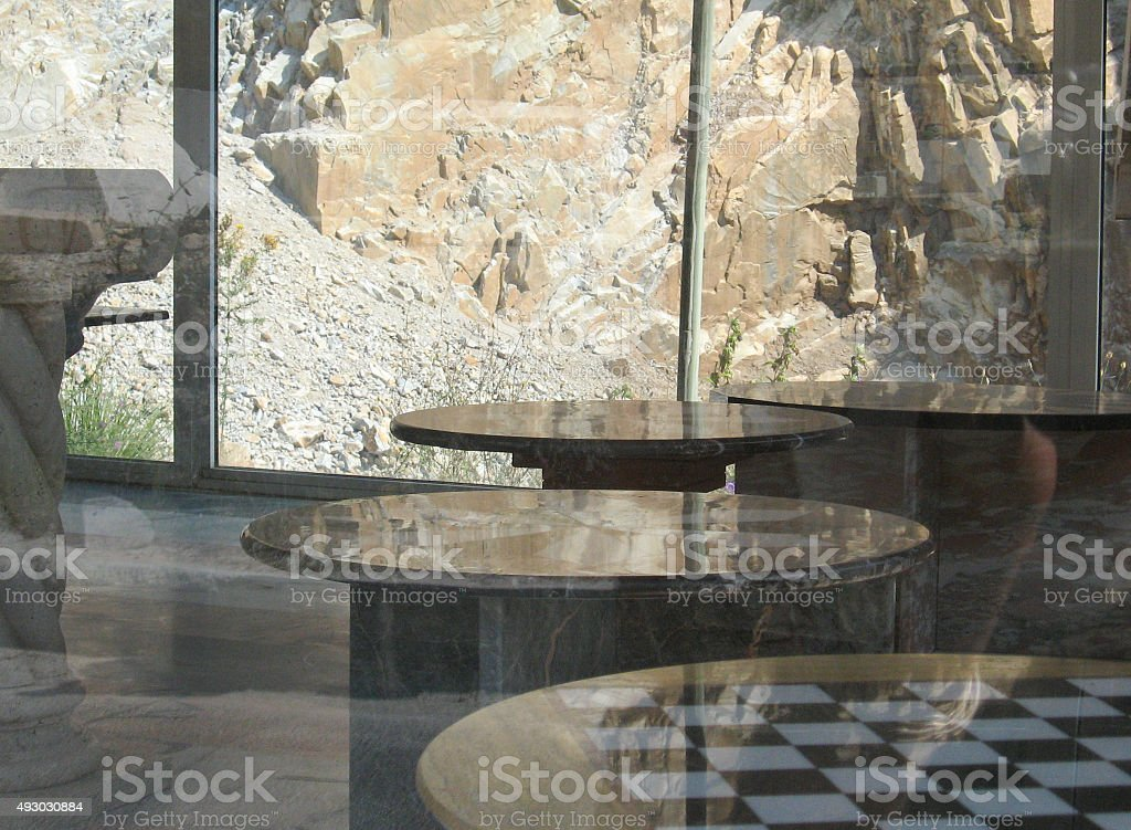 Shop with marble tables royalty-free stock photo