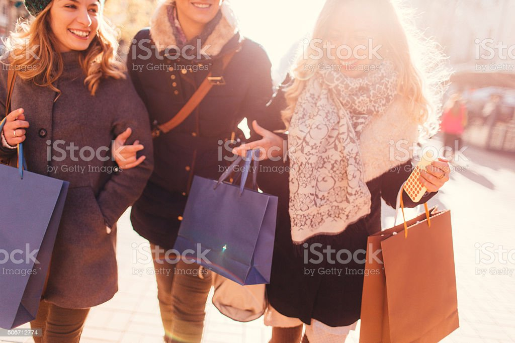 Shopaholics stock photo