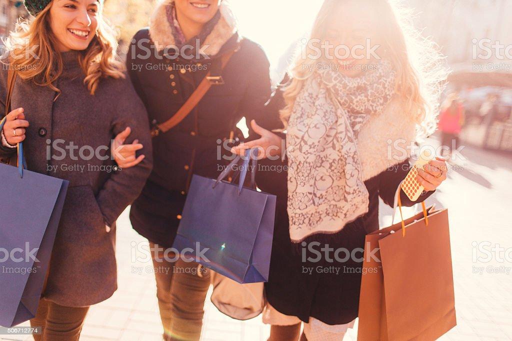 Shopaholics stock photo