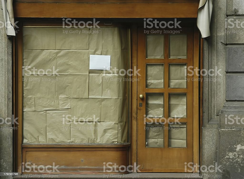 Shope closed - color stock photo