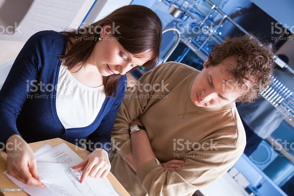 Shoping for a new kitchen together royalty-free stock photo