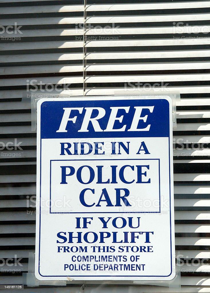 Shoplifters Beware royalty-free stock photo