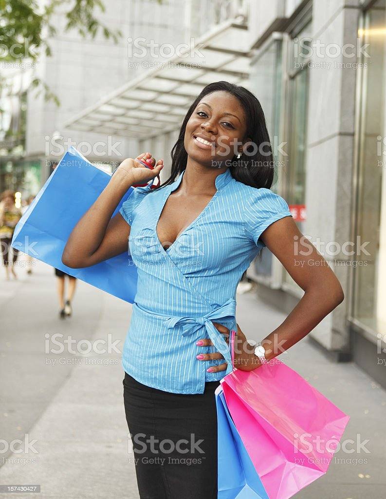 Shopper by Stores royalty-free stock photo