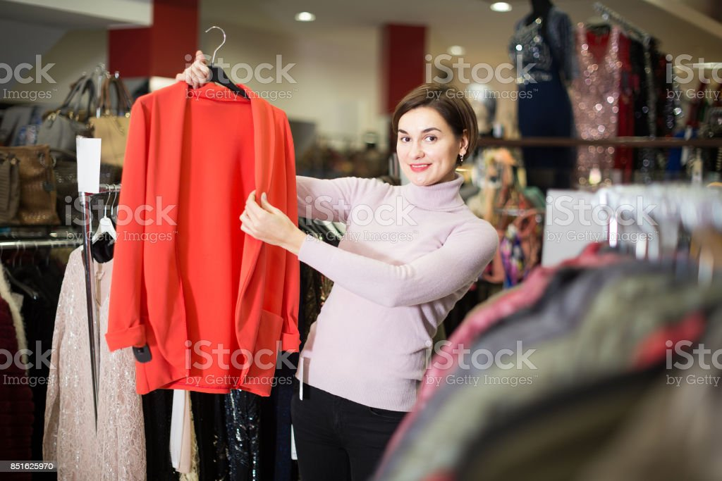 Shopper elect  cardiga stock photo