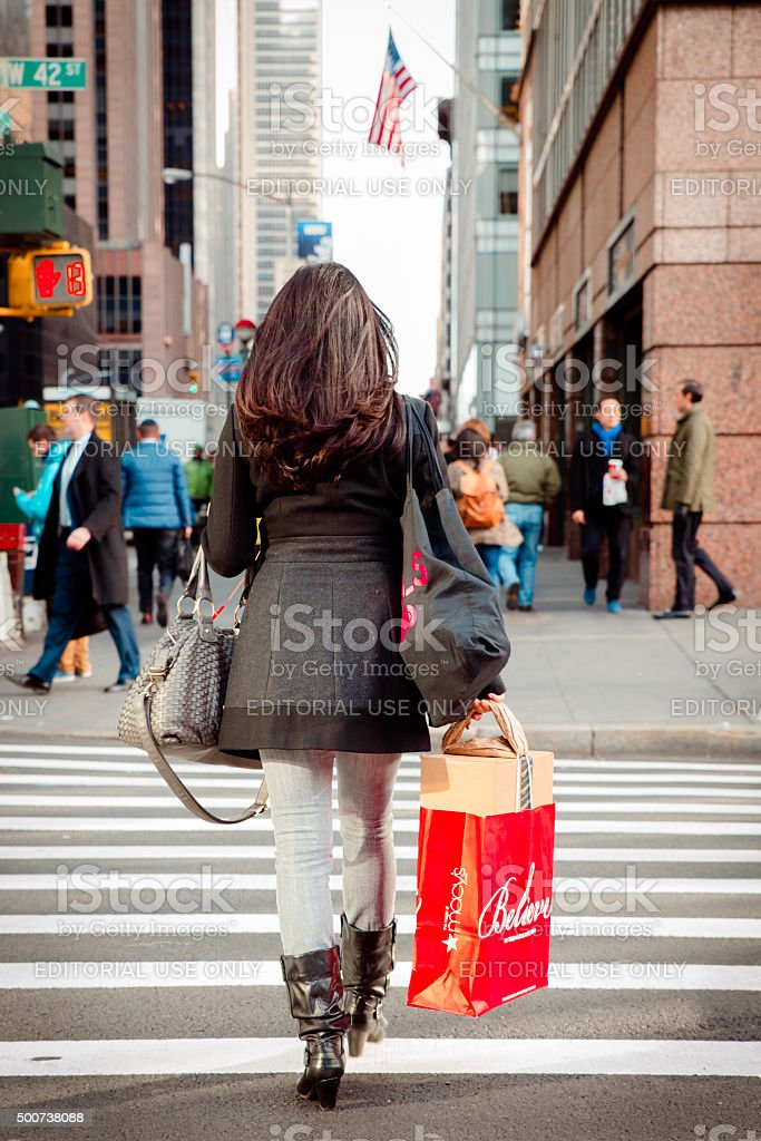NYC Shopper stock photo