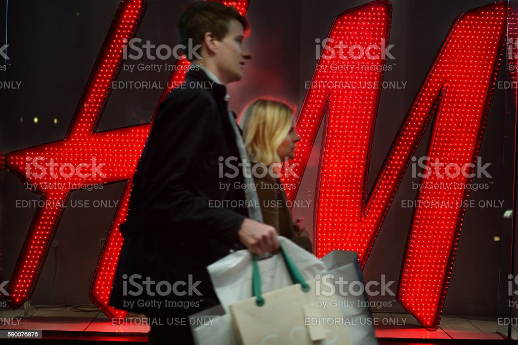 H&M shopper stock photo