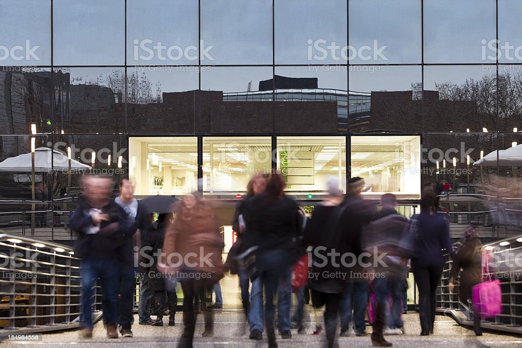 Shoppers, Blurred Motion stock photo