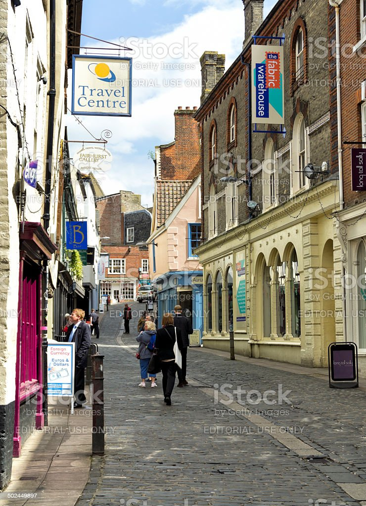 Shoppers in Bedford Street, Norwich royalty-free stock photo